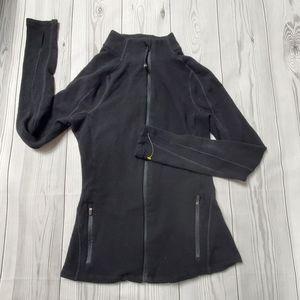 Lorna Jane Black Thumbholes Full Zip-Up Jacket